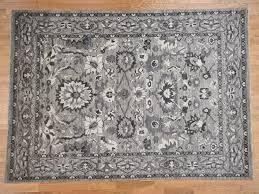 9 1 x12 6 natural colors mahal design grey peshawar hand knotted oriental rug sh40644