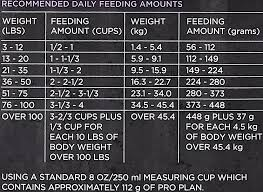 Purina Puppy Feeding Chart Purina Pro Plan Feeding Chart Best Picture Of Chart