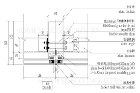 from the above is the plan view designing picture all details are shown like the size of aluminum mullion structure beam the bolt and nut shim