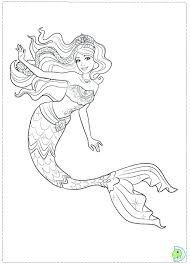 Coloring Pages Barbie Mermaid Page Of The Little Colouring Free