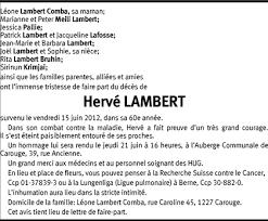 Hommages - Pour que son souvenir demeure: Hervé LAMBERT