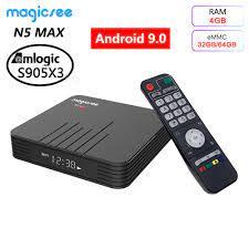 Magicsee N5 MAX Android 9.0 TV Box 4GB RAM 32GB 64GB ROM Amlogic S905X3  Media Player 2.4G 5G WiFi Bluetooth 4.1 4K HD Smart Box - AliExpress  Consumer Electronics