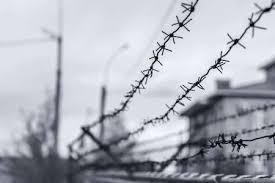 barbed wire fence prison. Interesting Prison Barbed Wire Fence Enclosing The Prison And Places Of Detention For Prisoners  Punished Committing Criminal On Barbed Wire Fence Prison D