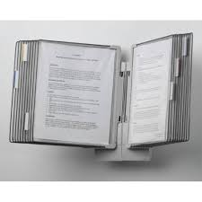 Display Binders With Stand Tabletop and WallMount Display System Newmatic Medical 36