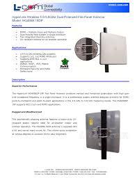 Flat Panel Antenna Design Hyperlink Wireless 4 9 5 8ghz Dual Polarized Flat Panel