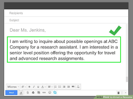 How To Email A Resume How To Email A Resume With Pictures Wikihow