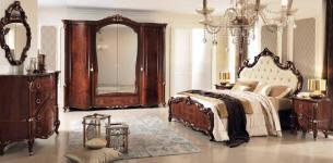 italian bedroom furniture. aida italian bedroom furniture romantica walnut finish suite r