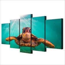 sea turtle 5 panel canvas wall art oceanhelper  on sea turtle canvas wall art with sea turtle 5 panel canvas wall art ocean helper