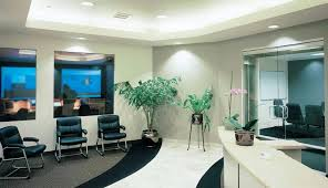 office and reception area painting and design