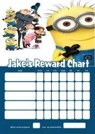 Minion Behavior Chart Minion Reward Chart Free 5 Best Images Of Minion Reward