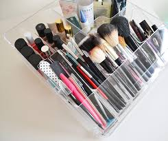 ikea morgon acrylic makeup storage