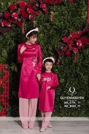 10 mẫu áo dài cách tân cho mẹ và bé không thể bỏ qua