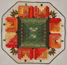 192 best pumpkin quilts images on Pinterest | Quilt patterns ... & Log Pumpkin Table Topper - no pattern Adamdwight.com