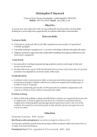 Simple Job Resume Outline Example Skills Based Cv