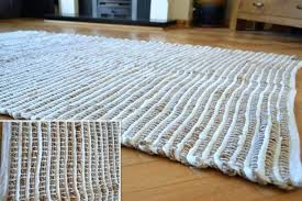 white jute rug large cotton stripe handmade knotted round off white jute rug
