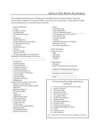 Interesting Resume Building Skills Section Also Examples Of Resume