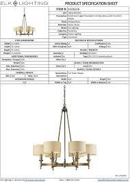 Elk Lighting 10123 6 Elk Lighting 10263 6 Pembroke Six Light Chandelier Antique Brass