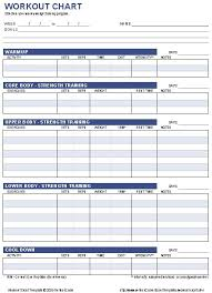 Gym Workout Sheet Amazing Free Workout Chart Template Fitness Pinterest Chart Workout