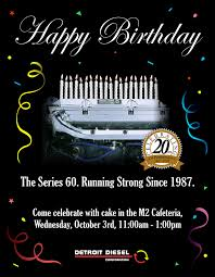 Diesel Graphic Design Detroit Diesel Series 60 Birthday Poster Anthony Browns