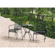 black wrought iron patio furniture. Wrought Iron 3 Piece Chairs Table Patio Furniture Bistro Set Black And I
