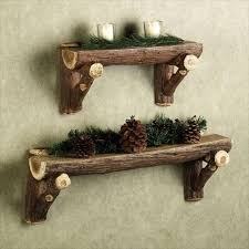 wood logs shelves made from a wine barrel stave this original glass holder is perfect decorative piece diy outdoor log furniture s54 diy