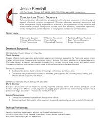 Secretarial Resume Templates Example For Free Resume For Secretary