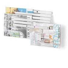 Container Store Magazine Holder Umbra Illuzine Magazine Rack The Container Store 2