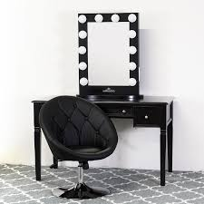black and white vanity. Fine And Classic Black Vanity Table With Power Outlets Throughout And White
