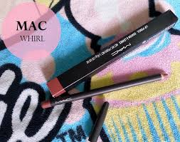 mac whirl lip liner review swatches dupe