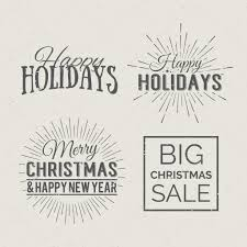 Christmas And New Year Calligraphic Labels Stock Vector 21kompot
