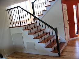 ... Marvellous Metal Handrails For Stairs Indoor Stair Railing Kits Black Metal  Handrails Straight: ...