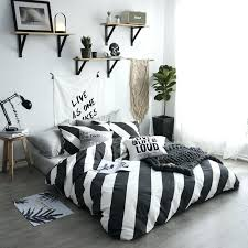 stripe bedding sets twin queen size single double bed linen luxury fashion high end cotton duvet cover set king comforter purple black white striped and