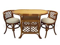 compact dining furniture. Borneo Compact Dining SET Table+2 Chairs Brown Handmade Natural Wicker Rattan Furniture