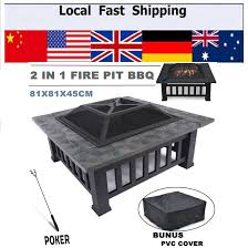 hot outdoor pit bbq grill table garden patio home grill brazier heater fireplace brazier family bbq
