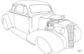 Small Picture Chevy Coupe Hot Rod coloring page Free Printable Coloring Pages