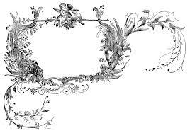 frame label decorative angel romantic image design clipart