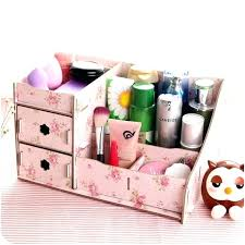 wooden makeup organizer with drawers desktop drawer m l wood storage box fashion women cosmetic organizers