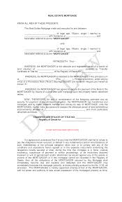 Free Real Estate Mortgage With Promissory Note Templates At