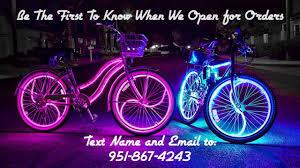 Bike Neon Lights Coolest Glowing Beach Cruisers Glow Candy Bike Lights