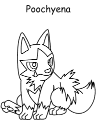 Small Picture Poochyena Pokemon Coloring Pages Coloring pages for kids Kids