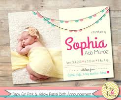 Girl Birth Announcement Template Free Printable Photo – Rigaud