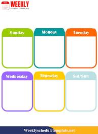 Printable Weekly Schedule Maker Weekly Schedule Template