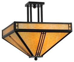 meyda lighting semi flush mount 143407 craftsman flush mount ceiling lighting by freely