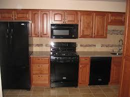 Kitchen : Amazin Kitchen With Modern Black Appliances And Granite ...