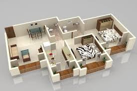 Bedroom House Floor Plans D Small Prefab Homes Floor Plans D - Small apartment floor plans 3d