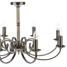 8 light candle chandelier antique brass