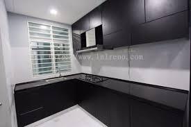 kitchen cabinet with melamine abs door panel