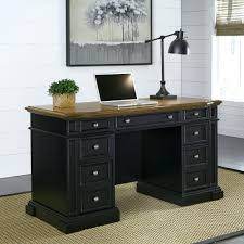 black writing desk with drawers storage