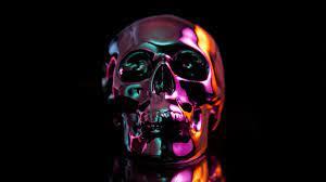 Oil Slick Skull 4K Wallpaper 1280x720 ...