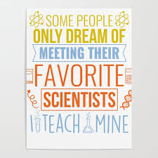Science Teacher Gift Teachers Biology Chemistry Physics Scientist Poster By Pnmerch